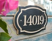 "11"" x 8"" Classic House Number Engraved Plaque (numbers only)"