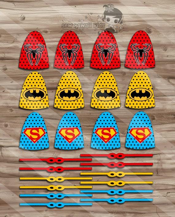 Superhero Lollipops Superhero Capes and Masks Birthday Party