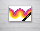 Apex - Featured in Mad Men Season 7 - Mod Curve Retro Vintage Inspired Op Art Print 60s 70s style A1 A2