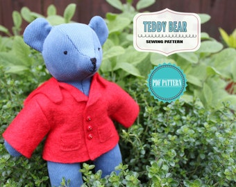 Teddy Bear Sewing PATTERN - with Jacket ***SALE