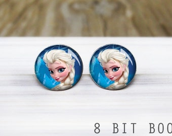 Ice Princess Stud Earrings- Disney Frozen-  Hypoallergenic Earrings for Sensitive Ears