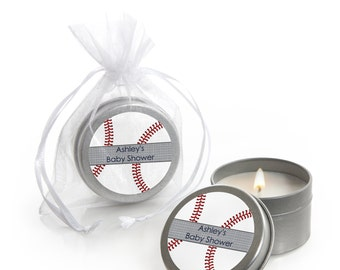 Batter Up! Baseball Candle Tin Party Favors - Party Supplies  - 12 Ct.