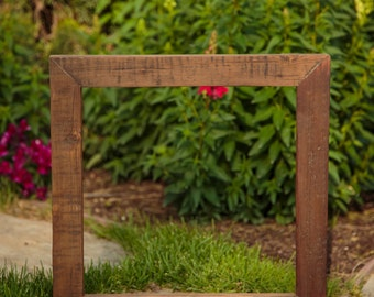 Rustic Frame, Reclaimed wood from 100 year old vineyard