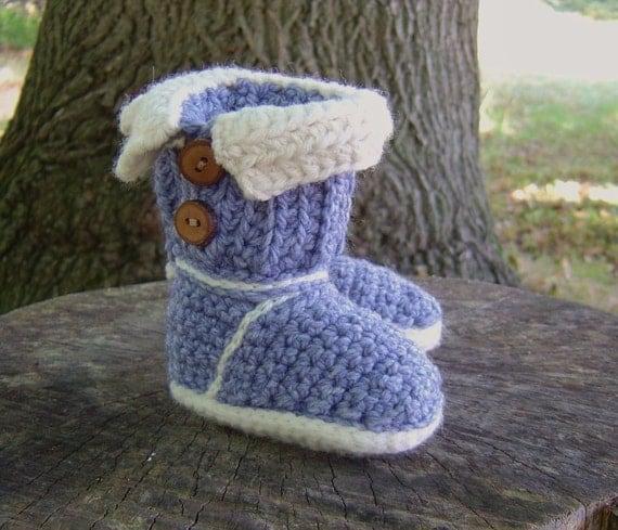Free Crochet Pattern Baby Ugg Booties : Crochet Pattern BABY Booties Baby Ugg style boots Croceht
