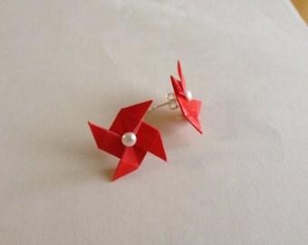 Origami Pinwheel Earrings