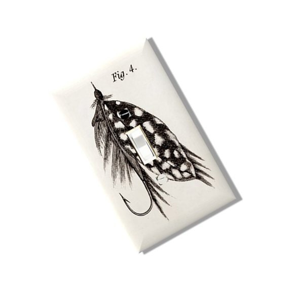 Fly fishing lure hook light switch cover outlet modern multi for Fishing hook cover
