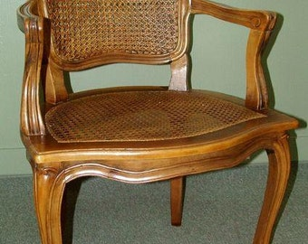 5726: Vintage French Woven Open Arm Chair You are Sure to Love at Vintageway Furniture