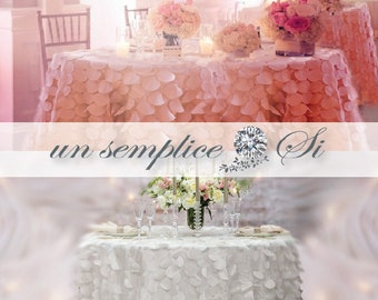 Taffetta Petal Tablecloth, Round Petal Table cloths