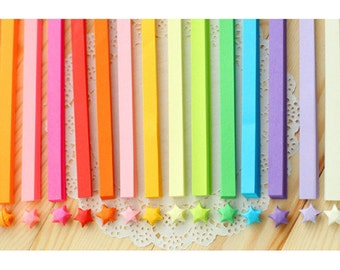 Upgrade-more than 3000 pcs Origami Star Paper 27 colors Kit Ultimate Rainbow Strips Lucky Wishing Star DIYValentine gift