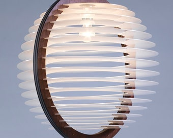 A Large Livingroom Lighting , Pendant Lighting , Pendant Lamp , Light Fixture , Wood and Perspex Pendant Light , Home Decor