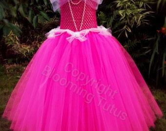 Sleeping Beauty Aroura Inspired Handmade Tutu Dress - Birthday, Party, Pageant ,Fancy Dress, Princess