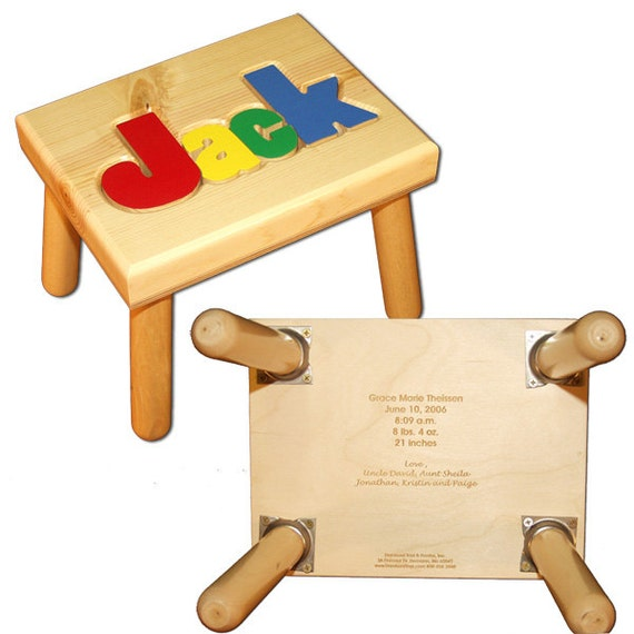 Engraved Message Only For Name Puzzle Stool By Damhorsttoys