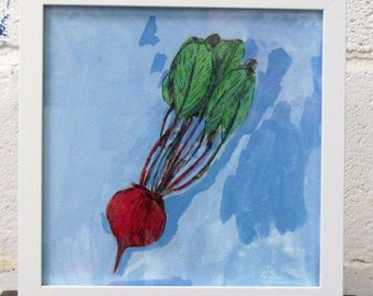 Beet, drawing on paper
