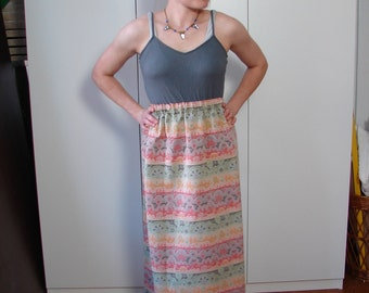 Vintage Brocade style 60s Maxi Skirt S - on sale