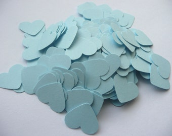 Wedding confetti hearts - Something blue - Paper hearts - 200 die cut hearts - paper heart confetti - weddings