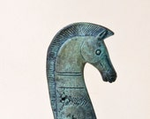 Bronze Greek Horse,  Geometric Metal Art Sculpture, Bronze Sculpture, Museum Quality Art, Greek Art, Ancient Greece,Equine Decor