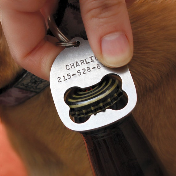 Personalized Dog Collar Tag Bottle Opener