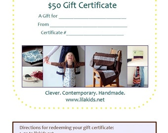 Gift Card, Gift Certificate, Gift Under 50, Instant Download, Last Minute Gift