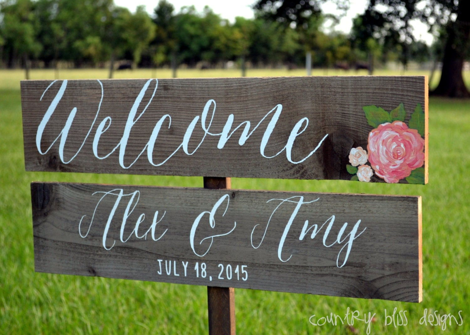Wedding welcome sign wedding calligraphy by Calligraphy and sign