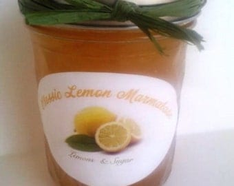 Classic Lemon Marmalade/ 4 or 8 oz/ MADE TO ORDER/ Winter Breakfast/ Hostess Gift
