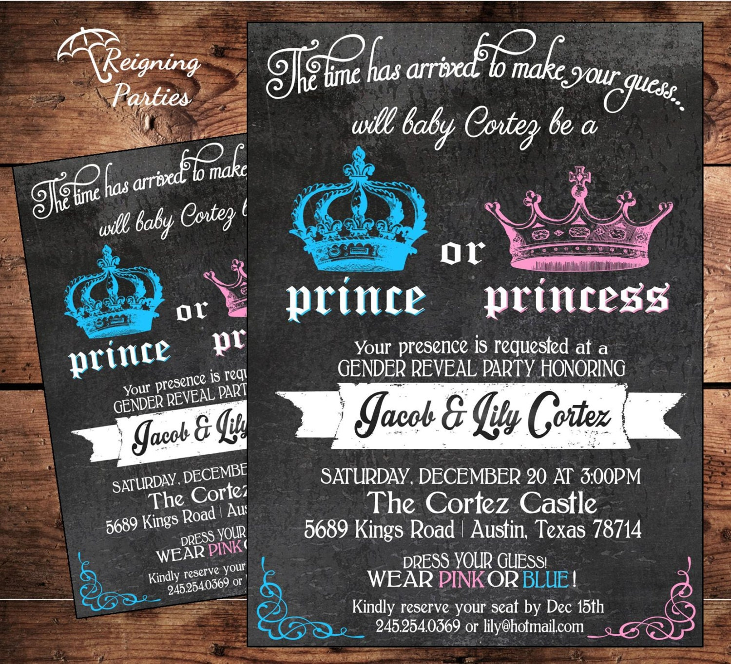 Prince or Princess Gender Reveal Party by ReigningParties ...