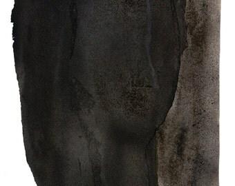 Black Art Abstract Painting, Dark Gray Wall Art, Minimalist Print Wall Art