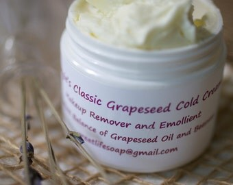 Classic Grapeseed Cold Cream, Make-up Remover, Facial Cleanser, Mini-Facial