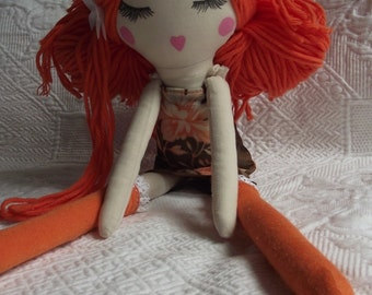 Handmade Cloth Doll Zoé   SOLD !!