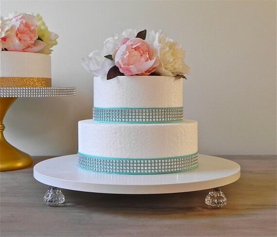 18 Wedding Cake Stand Bling White Silver Wedding Cake
