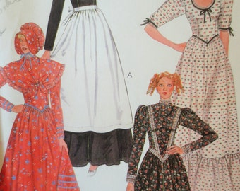 Vintage McCall's 8178 Sewing pattern, Prairie Dress, Pioneer Costume, Costume Pattern, Pilgrim Costume, Halloween Costume, Bust 31.5 to 34
