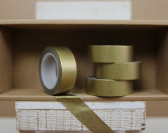 Washi Tape - solid metallic gold - M06
