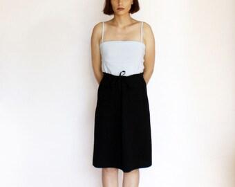 90s black midi skirt sporty normcore