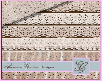 Cotton Lace Borders Trims~Digitally made