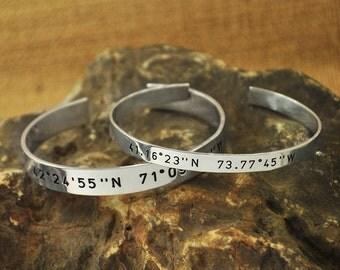 Coordinate Bracelet Set of 2 Latitude Longitude Bracelets Gift For Friend lovers bracelet alloy bracelet CouplesJewelry valentinegift