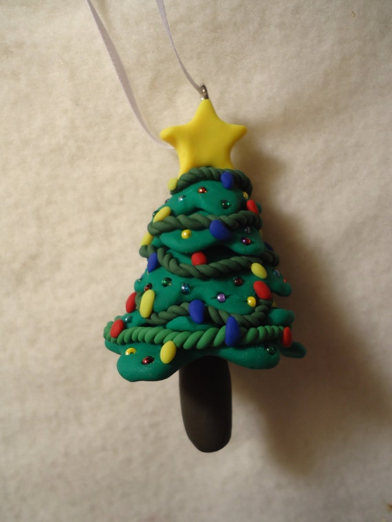 Christmas Tree Ornament Polymer Clay Ornament Christmas