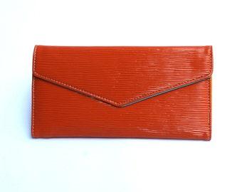 Women's Orange Leather Wallet, Women's Orange Leather Purse, Leather Wallet, Leather Purse, Orange wallet, Womens wallet