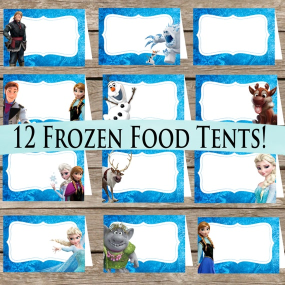 12 Frozen Food Tents Digital Download Printable Place