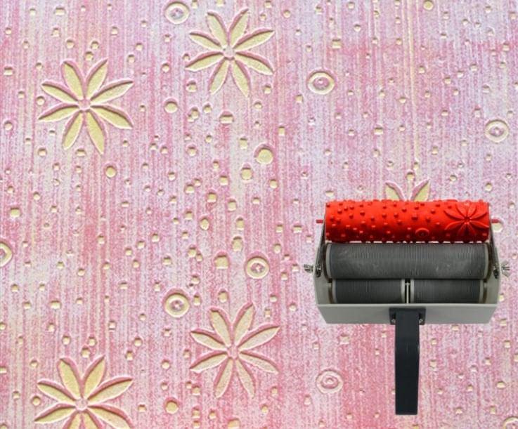 Wall Decoration Roller : Art flower stencil pattern paint roller wall decor by