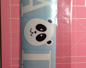 AOII Panda for the O vinyl decal 2.370 x 5.935