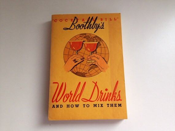 Boothby's World Drinks and How to Mix Them Cocktail Bill Paperback ...