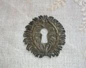 Antique French Keyhole Escutcheon Ormolu Classical Empire D