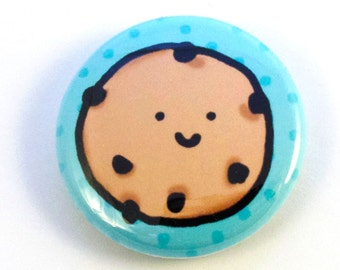 Chocolate Chip Cookie One Inch Button