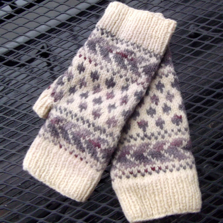 Georgia Afghan Knitting Pattern : Chevron Wrist Warmers - Colorwork Knitting Pattern PDF ...