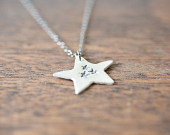 Stars on Thars - Silver Star Necklace - Large Star Necklace - My Lucky Stars - Modern Minimalist Jewelry for Everyday - Sterling Chain