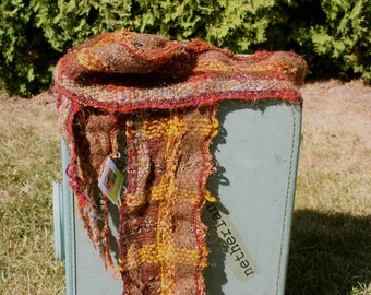 Bear B03, an Everyday Scarf handwoven and felted by me