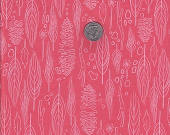 Fat quarter - Nature Walk in Coral - Michael Miller cotton quilt fabric