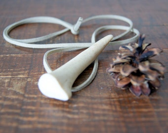 Antler Jewelry - Deer Antler Tip Necklace - real antler tip necklace - Antler Jewelry - woodland necklace - boho fashion