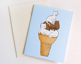 Soft Served Kitties Any Occasion Greeting Card