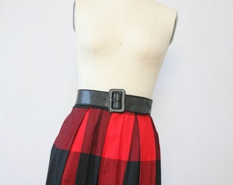 Vintage red and black madras maxi