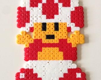 Toad from Super Mario Bros. Fuse Bead Pixel Art